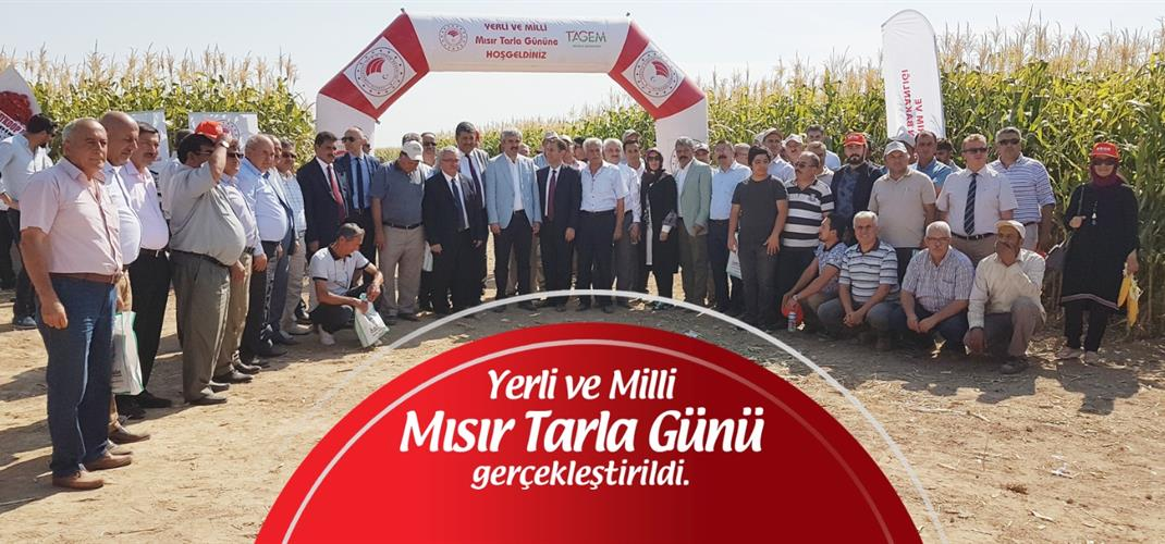 DOMESTIC AND NATIONAL MAİZE FIELD DAY WAS CARRIED OUT BY OUR INSTITUTE.
